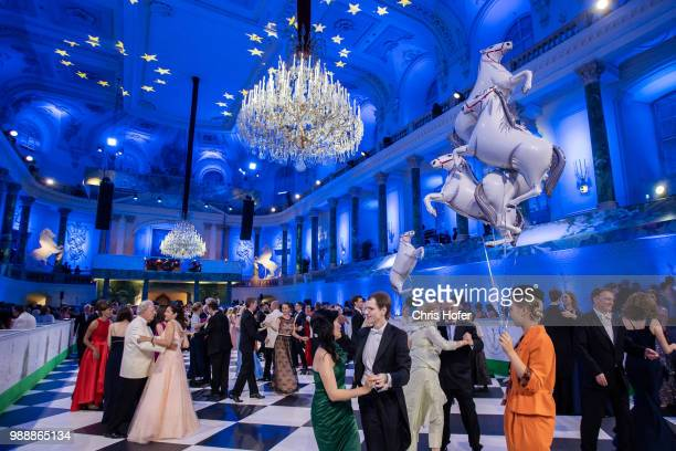 Guests dancing during the Fete Imperiale 2018 on June 29 2018 in Vienna Austria