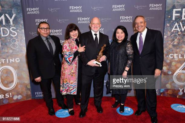 Guests Debbie Lesser and Donald R Allen Jr attend 2018 Femmy Awards hosted by Dita Von Teese on February 6 2018 in New York City