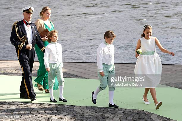 Guests depart for the travel by boat to Drottningholm Palace for dinner after the wedding of Princess Madeleine of Sweden and Christopher O'Neill...