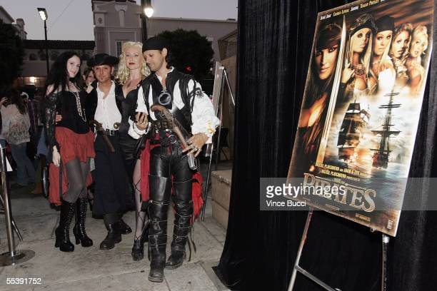 Guests dressed as pirates attend the Digital Playground Adam and Eve production of the XXX rated film Pirates on September 12 2005 at the Egyptian...