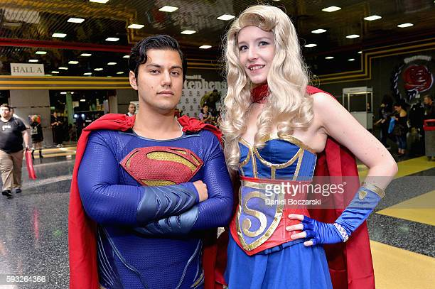 Guests dressed as Superman and Superwoman during Wizard World Comic Con Chicago 2016 Day 4 at Donald E Stephens Convention Center on August 21 2016...