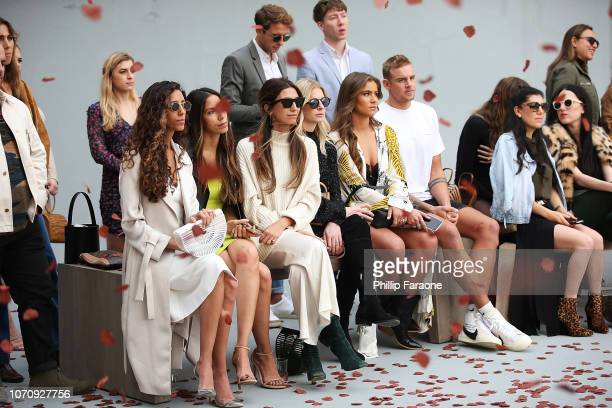 Guests during Cult Gaia's FirstEver Runway Presentation In Los Angeles on December 9 2018 in Malibu California