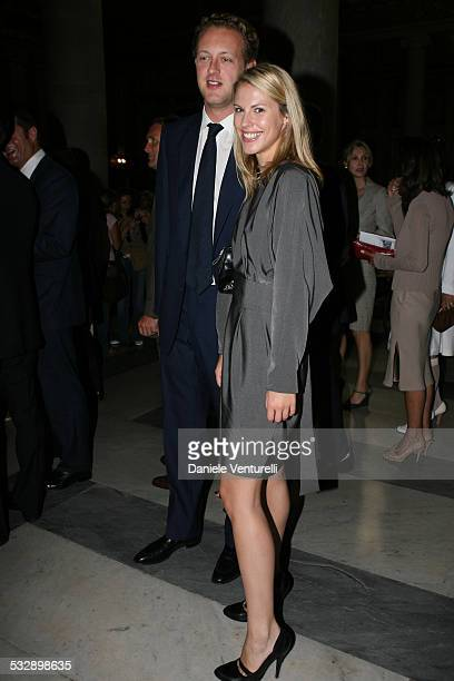 Guests during Elle Macpherson and Arpad Busson in Rome for the Baptism of their Son Aurelius cy Andrea at Basilica Santa Maria Maggiore in Roma Italy