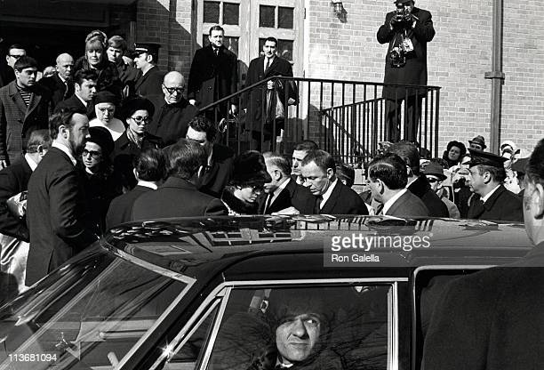 Guests during Funeral for Frank Sinatra's Father January 26 1969 at Hoboken Cemetary in Hoboken New Jersey United States