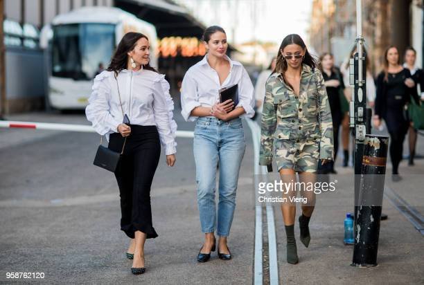 Guests during MercedesBenz Fashion Week Resort 19 Collections at Carriageworks on May 15 2018 in Sydney Australia
