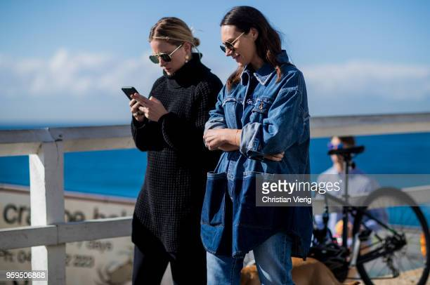 Guests during MercedesBenz Fashion Week Resort 19 Collections at Icebergs Dining Room on May 17 2018 in Sydney Australia