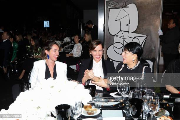 Guests during the amfAR gala dinner at the house of collector and museum patron Eugenio López on February 5 2019 in Mexico City Mexico