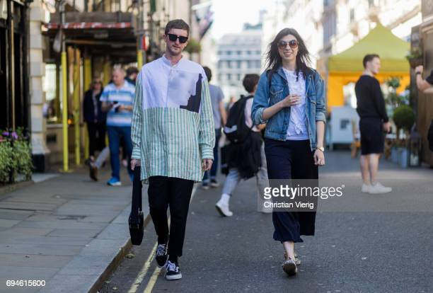 Guests during the London Fashion Week Men's June 2017 collections on June 10 2017 in London England