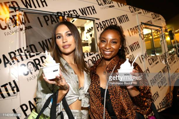 Guests eat ice cream as Fashion Nova Presents Party With Cardi at Hollywood Palladium on May 9 2019 in Los Angeles California