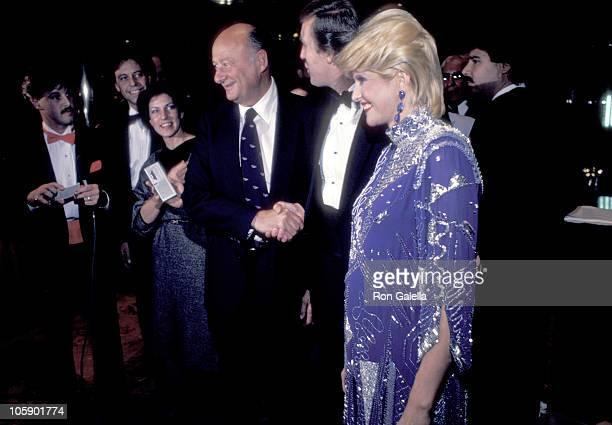 guests Ed Koch Donald Trump and Ivana Trump attend Ed Koch Fundraiser on October 5 1983 at Trump Tower in New York City