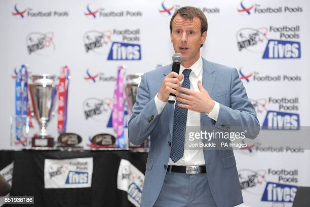 Guests enjoy a talk by Steve Claridge during the StreetGames Football Pools Fives