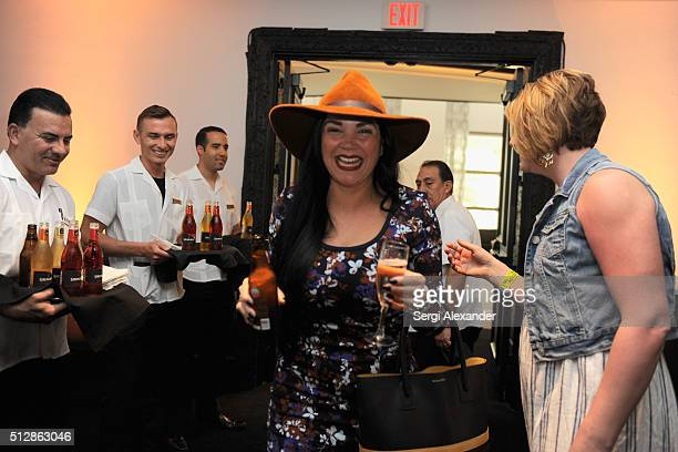 Guests enjoy Amstel Light Lager Beer and Strongbow Hard Apple Cider at the Southern Kitchen Brunch Hosted By Trisha Yearwood Part of The NYT Cooking...