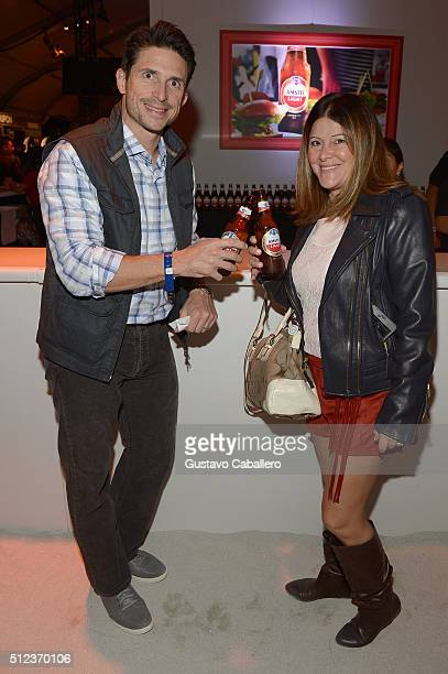 Guests enjoy Amstel Light Lager Beer at MasterCard Preview Barilla's Italian Bites On Yhe Beach during 2016 Food Network Cooking Channel South Beach...
