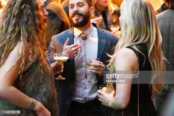 Guests enjoy Bulleit Bourbon cocktails at the 2019 Tribeca Film Festival AfterParty for Plus One hosted by Bulleit Bourbon at the Bulleit 3D Printed...