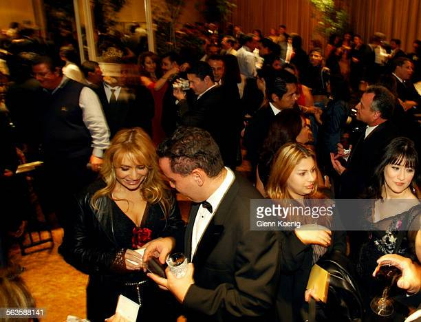 Guests enjoy cocktails during the Gala Extravaganza benefiting the El Cucuy Foundation at the Regent Beverly Wilshire Hotel in Beverly Hills