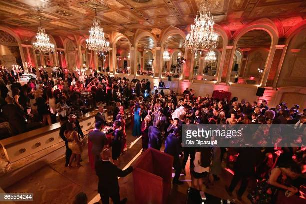 Guests enjoy HSA Masquerade Ball on October 23 2017 at The Plaza Hotel in New York City