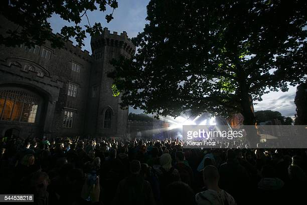 Guests enjoy Jurassic 5 perform at CastlePalooza at Charville Castle on July 2, 2016 in Tullamore, Ireland.