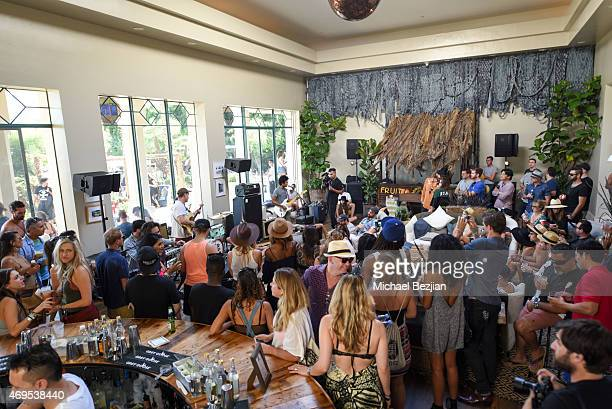 Guests enjoy Spotify Session with Toro y Moi at Soho Desert House on April 12, 2015 in La Quinta, California.