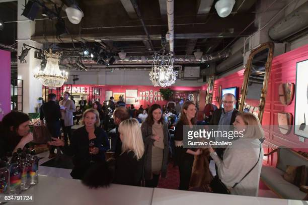 Guests enjoy the Ken Fulk Lounge during New York Fashion Week The Shows on February 11 2017 in New York City