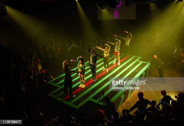 Guests enjoy the live performance at the Scarlet Night Party hosted by Virgin Voyages at PlayStation Theater on February 14 2019 in New York City