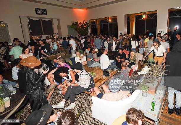 Guests enjoy the music at Soho Desert House on April 12, 2015 in La Quinta, California.