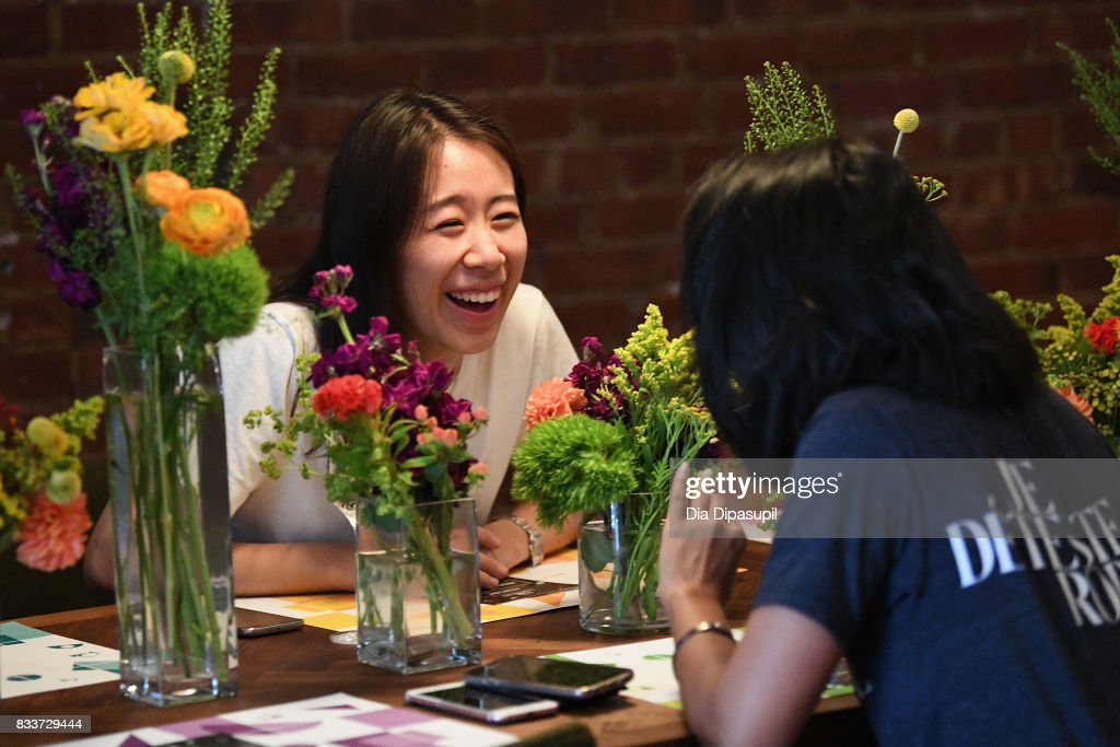 Guests enjoy the Naked Egg Taco at the 'Bell & Breakfast' event hosted by Taco Bell to give fans the chance to try the new Naked Egg Taco on August 17, 2017 in New York City.