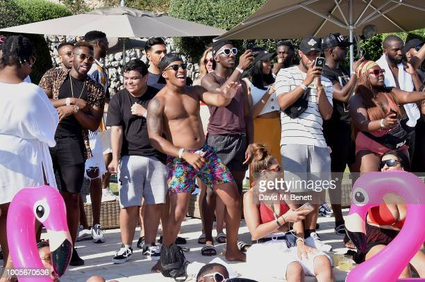 Guests enjoy themselves as Spotify Premium throws the ultimate party in Spain for Stormzy's 25th birthday on July 26 2018 in Menorca Spain