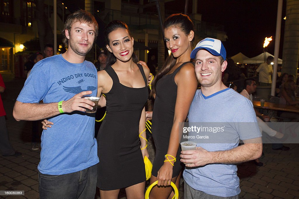 Guests enjoy themselves before the start of the 2 Chainz concert with Hennessy V.S at Aloha Tower Marketplace on January 24, 2013 in Honolulu, Hawaii.