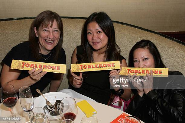 Guests enjoy Toblerone at Evolution Of Mexican Cuisine hosted by Enrique Olvera as a part of the Bank of America Dinner Series during the Food...