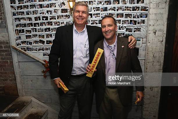 Guests enjoy Toblerone at The Gypsy Chef Dinner hosted by David Myers as a part of the Bank of America Dinner Series during the Food Network New York...