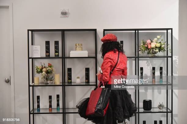 Guests enjoy TRESemmé products on display during New York Fashion Week The Shows on February 14 2018 in New York City