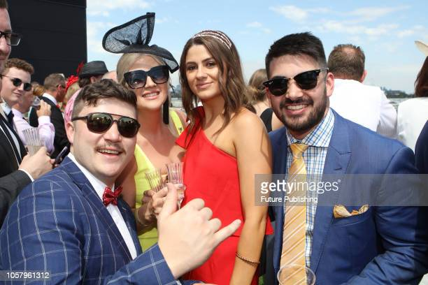 Guests enjoying Lexus Melbourne Cup Day at the 2018 Melbourne Cup Carnival