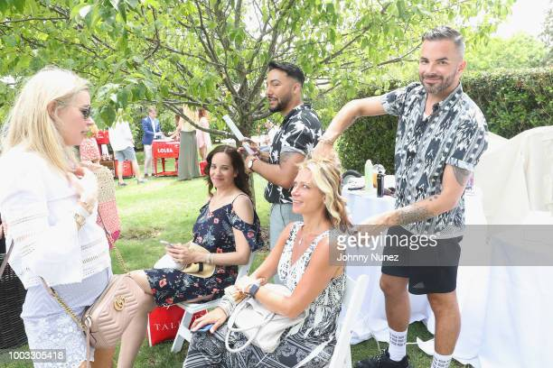 Guests enjoying T3 Micro curling station at The Inaugural Hamptons Interactive Influencer Brunch Hosted By East End Taste Produced By Ticket2Events...
