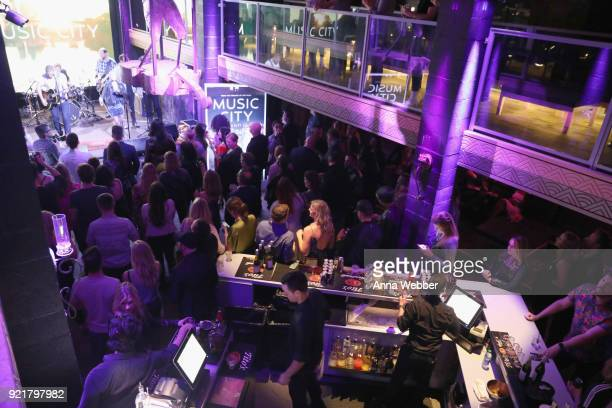 Guests enjoying the party during CMT's 'Music City' Premiere Party on February 20 2018 in Nashville Tennessee