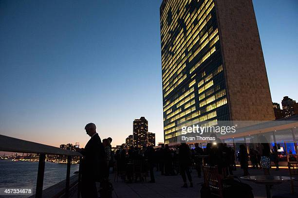 Guests gather outside the UN Delegates Dining Room at the Asia Game Changer  Awards hosted by. Thomas Pritzker Stock Photos and Pictures   Getty Images