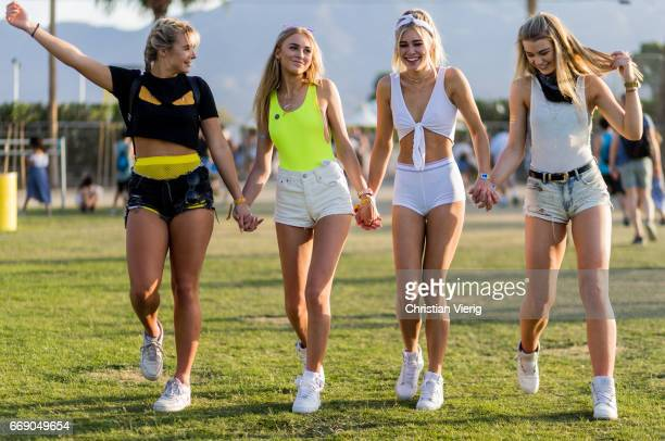 Guests having fun during day 2 of the 2017 Coachella Valley Music Arts Festival Weekend 1 on April 15 2017 in Indio California