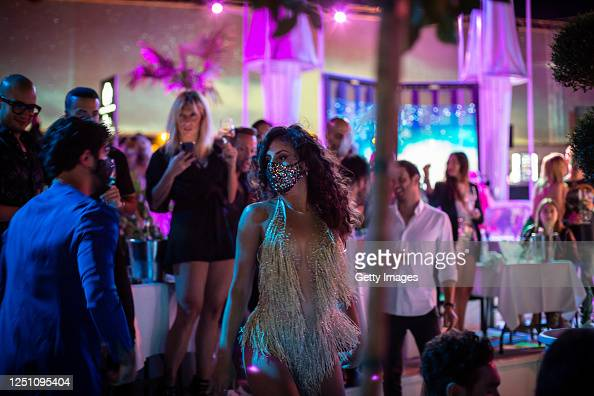 Guests In Face Mask Dance Together Inside The Club On The Opening Of News Photo Getty Images