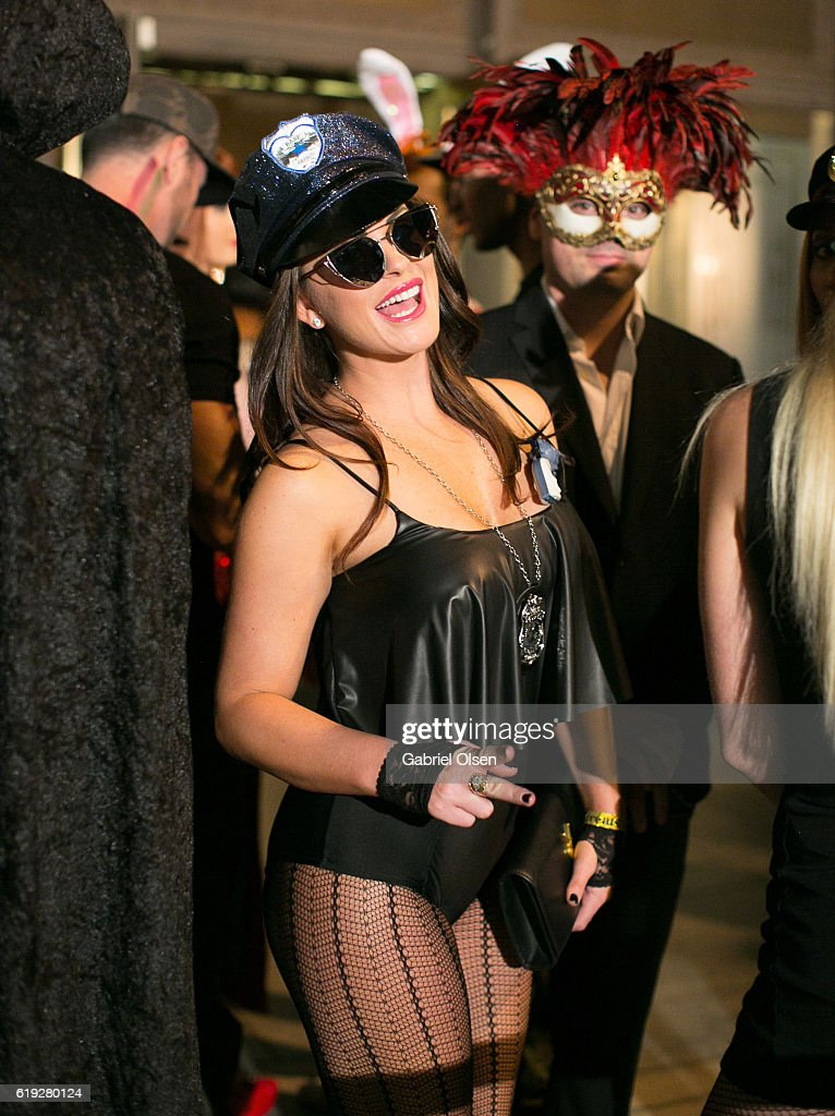 Guests in Halloween costumes attend Trick or treats! - The 6th Annual treats! Magazine Halloween Party Sponsored by Absolut Elyx on October 29, 2016 in Los Angeles, California.