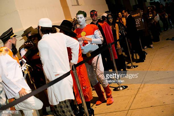 Guests in Halloween costumes attend Trick or treats The 6th Annual treats Magazine Halloween Party Sponsored by Absolut Elyx on October 29 2016 in...