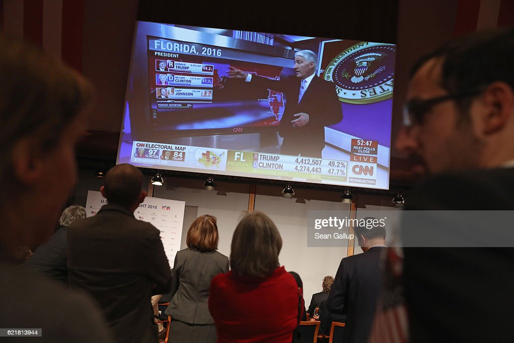 Germany Watches US Elections Results Photos and Images Getty