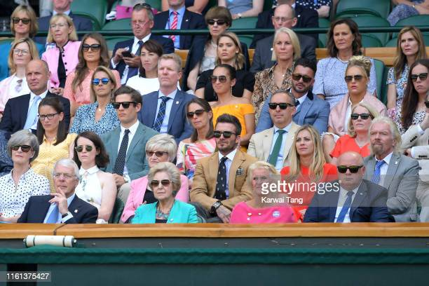 Guests in the royal box which include Former British Prime Minister John Major Norma Major and Gill Brook Caroline Foy Claire Foy Sandra Beckham...