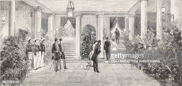 Guests in the vestibule Italian Embassy in Istanbul ball given by Count Corti for the English ambassador Frederick HamiltonTempleBlackwood 1st...