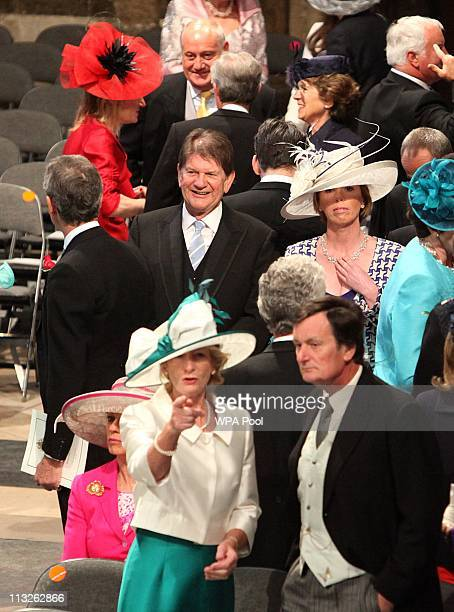 Guests in Westminster Abbey ahead of the Royal Wedding of Prince William to Catherine Middleton at Westminster Abbey on April 29 2011 in London...