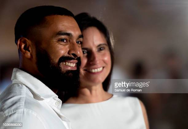 Musicians during the event 'Diner en Blanc' which is celebrated this year at the bullring 'Las Ventas' in Madrid on September 20 2018 in Madrid Spain...