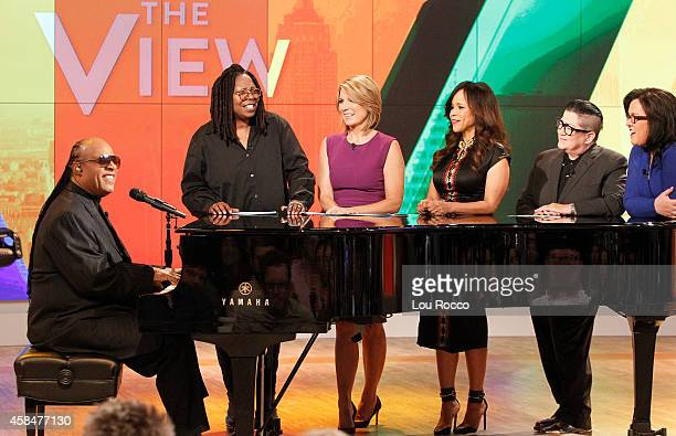 THE VIEW Guests include Oscar De La Hoya Stevie Wonder and Lea Delaria on Walt Disney Television via Getty Images's The View The View airs...