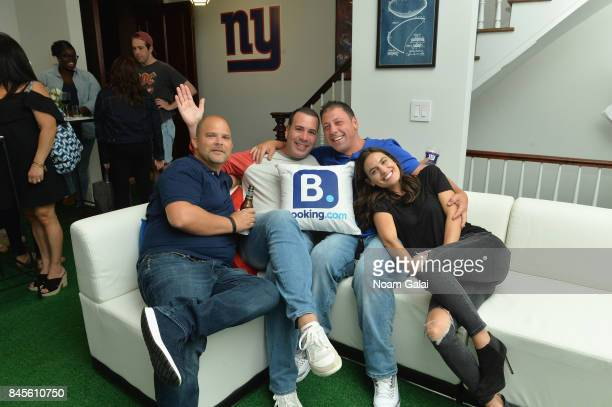 Guests including Breanne Racano attend gameday kickoff at the Bookingcom Football House on September 10 2017 in Jersey City New Jersey