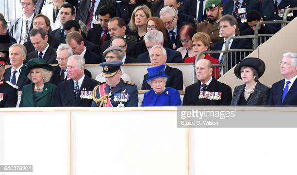 Guests including Camilla Duchess of Cornwall Prince Charles Prince of Wales Jeremy Corbyn Queen Elizabeth II Prince Phillip Duke of Edinburgh Teresa...