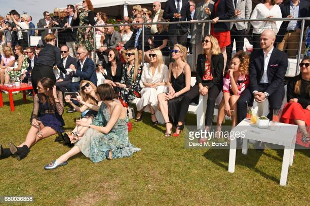 Guests including Charlotte Wiggins Eve Delf Sam Rollinson Caroline Winburg Tess Ward and Ella Eyre attend the Audi Polo Challenge at Coworth Park on...