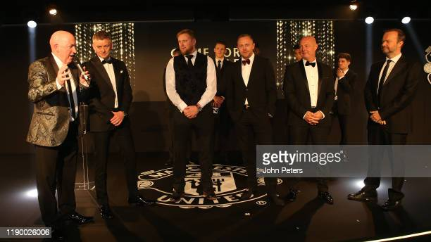 Guests including Ed Woodward and Manager Ole Gunnar Solskjaer of Manchester United take part in a game at the annual Manchester United UNICEF Dinner...
