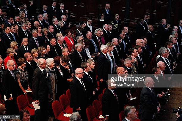 Guests including former and present Australian politians gather at the state memorial service for former Australian Prime Minister Gough Whitlam at...